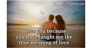 The Meaning Of Love Quotes Inspiration I Love You Because You Have Taught Me The True Meaning Of Love