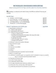 senior paper outline   RESEARCH PAPER STUDENT SAMPLE OUTLINE I II