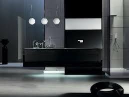 image of black bathroom vanity modern