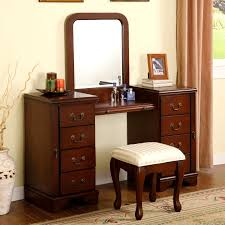 dark wood vanity table dark wood vanity set makeup table with lighted mirror modern dresser