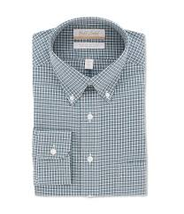 Gold Label Roundtree Yorke Non Iron Full Fit Button Down Collar Gingham Dress Shirt