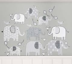 on elephant nursery wall art uk with branson elephant wall decal pottery barn kids
