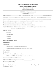 Minutes Document Template Meeting Minutes Template Format Pdf Minute Templates Example Sample
