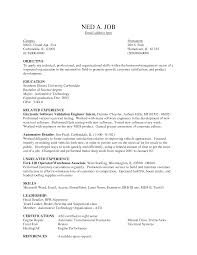 Resume Template. Resume Objective Warehouse: resume-objective ... ... Resume Template, Resume Objective Warehouse With Related Experience As Electronic Software Validation Engineer Intern: ...