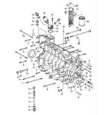 porsche 911 993 parts crankcase right group