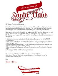 Free Letter From Santa Word Template Letter From Santa Template Word Photographer Davidson