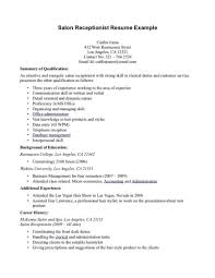 Medical Receptionist Resume Front Desk Receptionist Resume Medical Sample Objective Cover 33