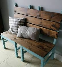 turning pallets into furniture. 2 chairs turned into a bench turning pallets furniture u