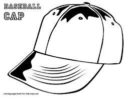Baseball Hat Coloring Pages - GetColoringPages.com
