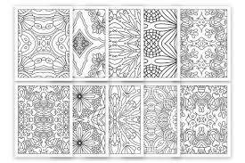 Each one has lots of details. 10 Relaxing Coloring Pages For Adult Graphic By Doridodesign Creative Fabrica