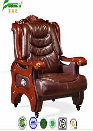 china swivel leather executive office chair with solid wood foot fy1305 china chair office chair