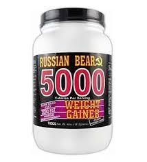 vitol russian bear 5000 weight gainer chocolate 4 lbs russian bear 5000 weight gainer has been developed by russian descendant val vasilef n d