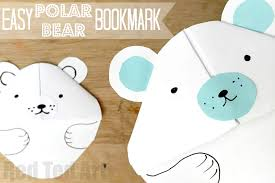 easy polar bear bookmark diy