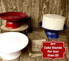 DIY Cake Stands for Under $5 by www.thebearfootbaker.com