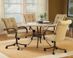 ... Dining Chairs, Kitchen Chairs With Casters Pertaining To Marvelous Kitchen  Chairs With Casters No Arms ...