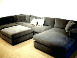 sectional with chaise and ottoman post 3pc contemporary grey microfiber sectional sofa chaise ottoman s168lg