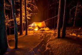 Camping in the woods at night Tents Camp At Night Northern Swag Category Camping Northern Swag
