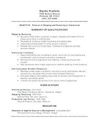Warehouse Worker Sample Resume Interesting Warehouse Worker Cover Letter Example Sample For It Position