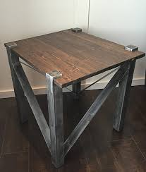 furniture rustic modern. rustic modern industrial end table metal base with distressed pine top dimensions height furniture