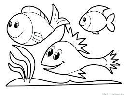 Printable Coloring Pages Fish Preschool Rainbow Fish Coloring ...