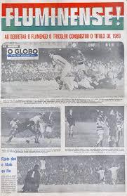 Fluminense Football Club - #MomentoFluMemória A crônica do título estadual de 1969 conquistado pelo Fluminense em uma vitória por 3 a 2 diante do Flamengo, com 171.599 torcedores pagantes no Maracanã, foi
