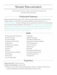Lpn Charting Examples Best Charge Nurse Lpn Resumes Resumehelp