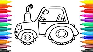 How To Draw Tractor For Kids
