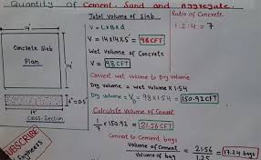 Concrete Calculation Chart How To Calculate Quantity For Cement Sand Aggregate In