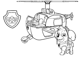 Paw Patrol Coloring Page Getcoloringpagescom