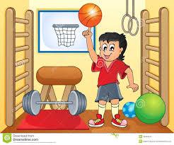 Sport Et Image 8 De Sujet De Gymnase Illustration De Vecteur Dessin De Gymnase L