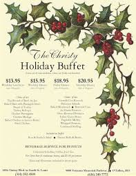 Holiday Menu Holiday Menu St Louis Banquet Center The Christy