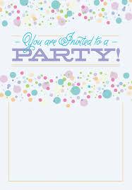 Free Templates Invitations Printable Polka Dots Free Printable Party Invitation Template