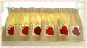 Strawberry Kitchen Curtains Sew Ichigo August 2012