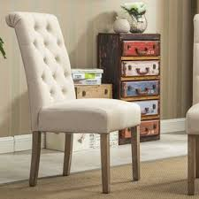 dining kitchen chairs. sabanc solid wood button tufted side chair (set of 2) dining kitchen chairs 0