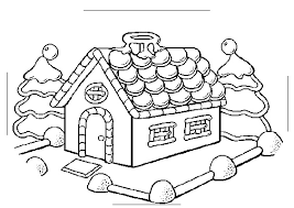Christmas House Coloring Pages Free Christmas Coloring Pages