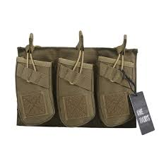 Ar Magazine Holder Arak Triple Open Top Mag Pouch With Bungee System Tactical Molle 74