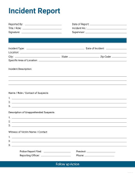Template Incident Report Form 60 Incident Report Template Employee