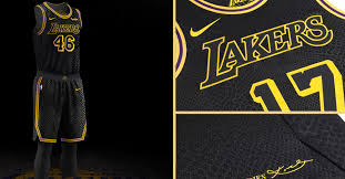 Get ready for the bright lights and the big stage with official los angeles lakers jerseys and gear from nike.com. Lakers To Wear Black Mamba Jerseys In Honor Of Kobe Bryant Basketball Network
