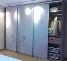 image of interior bypass closet doors