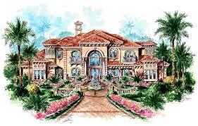 mediterranean house plans. Contemporary House Florida Mediterranean House Plan 60481 Elevation Inside Plans