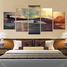 online shop 5 panel canvas prints art fashion star wars painting wall art 5 pieces printed poster canvas pictures aliexpress mobile on star wars 5 panel canvas wall art with online shop 5 panel canvas prints art fashion star wars painting