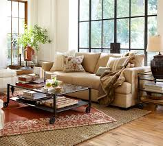 pottery barn round rug room