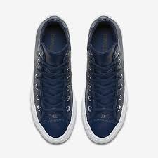 converse chuck taylor all star crinkled patent leather high top Γυναικεία Μπλε cfq8f6