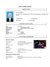 Contoh Resume Resume For Your Job Application Contoh Resume Bahasa Melayu  ...