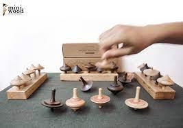 Bộ Trò Chơi Con Quay Gỗ Miniwood – The Craft House