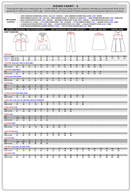 Number Size Chart Size Chart Threads Store