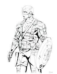 Captain America Coloring Page Autoinsurancegusinfo