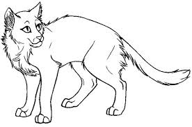 Small Picture Printable Warrior Cat Coloring Pages Coloring Me