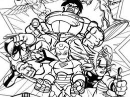 Small Picture Super hero squad coloring page magnificent super hero squad