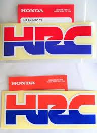 stickers emblems flags honda hrc